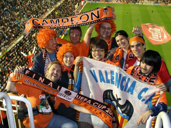 We come together and watch all the games of the Valencia CF