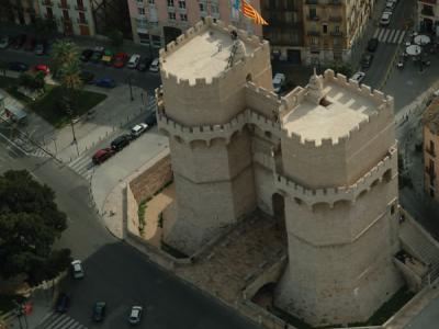 Aerial view of Serrano Towers
